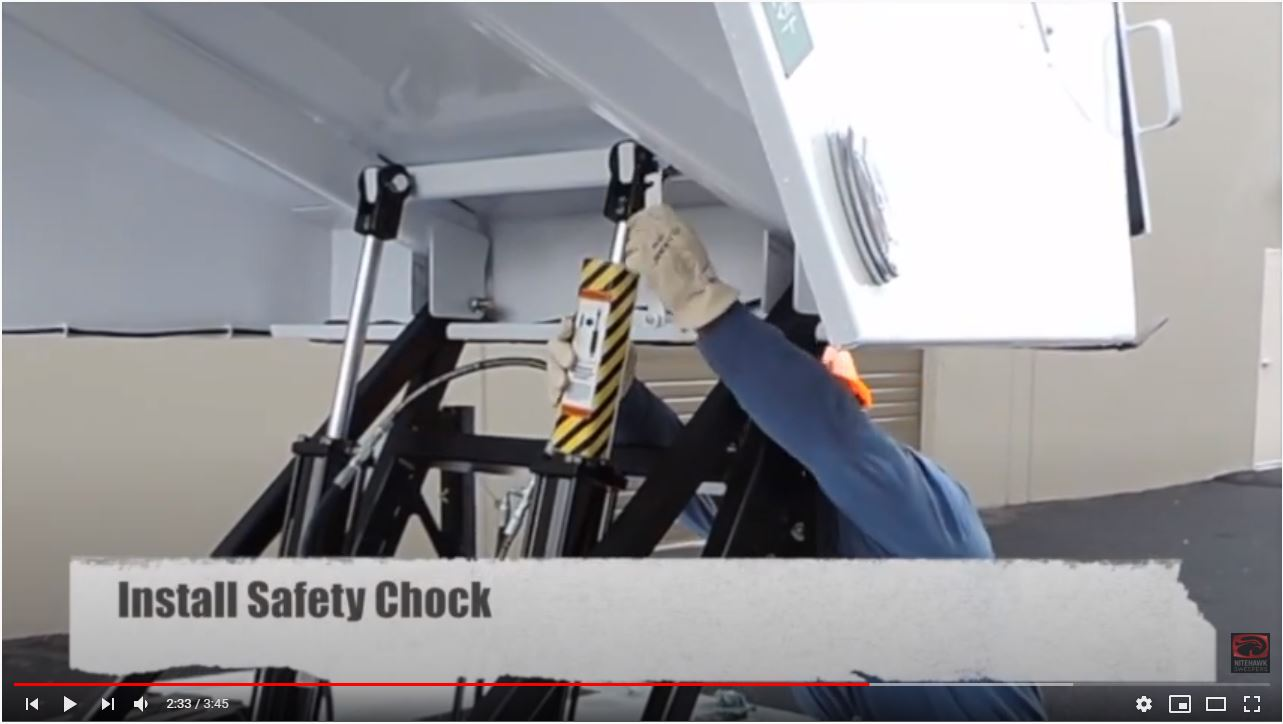 How to Install Hopper Safety Cylinder Chock
